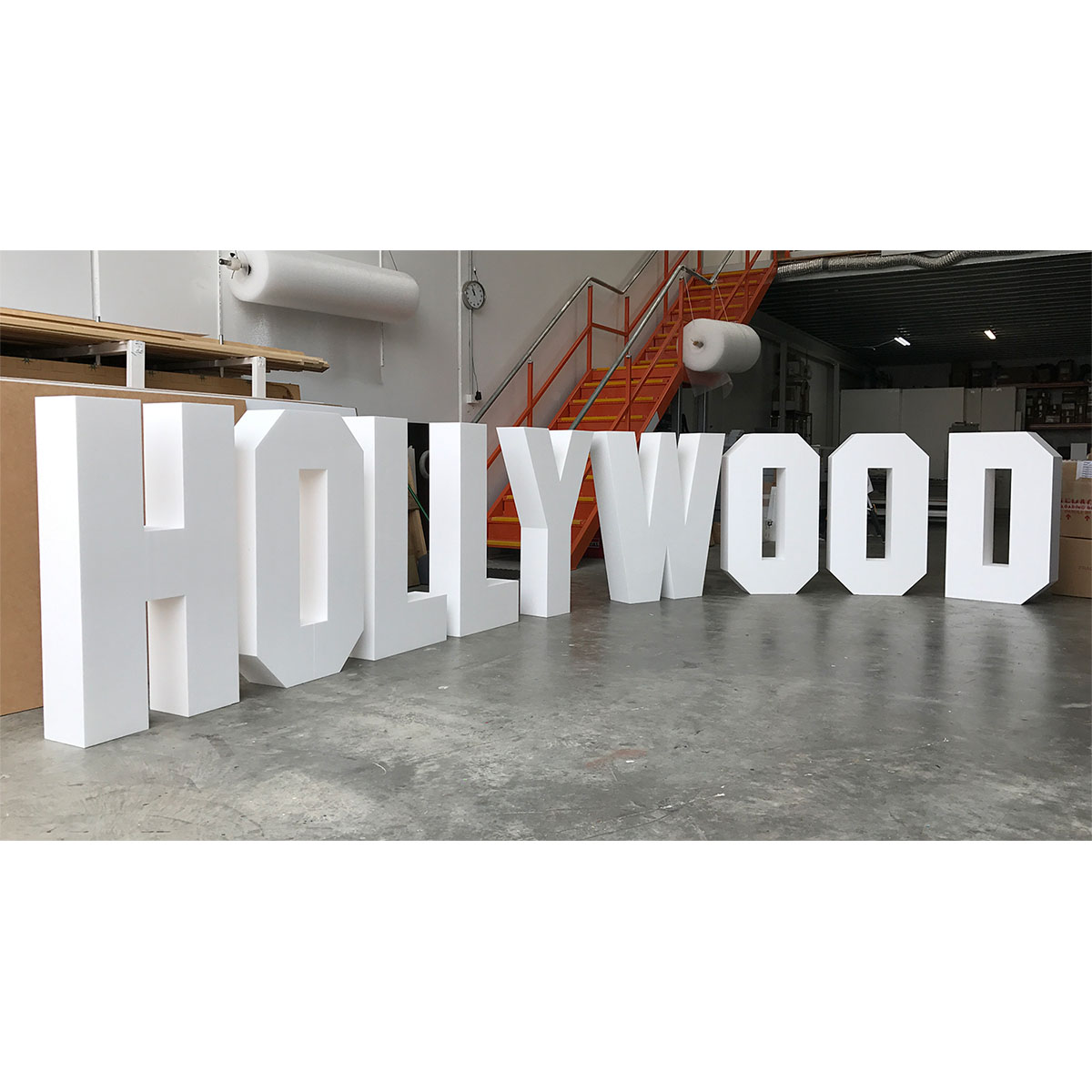 Hollywood foam letter signage