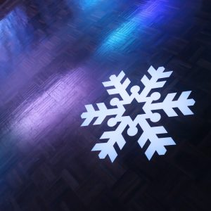 Snowflake Decal On Dance Floor Hire Melbourne 2