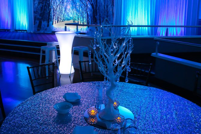 Table Centrepiece for Winter Wonderland Style event