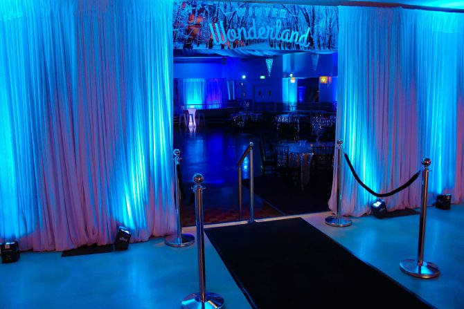 Winter Wonderland Banner and Stanchions Melbourne Hire