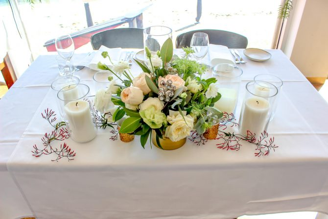 Candle Vase Hire Melbourne with Gold Candle Holders 2