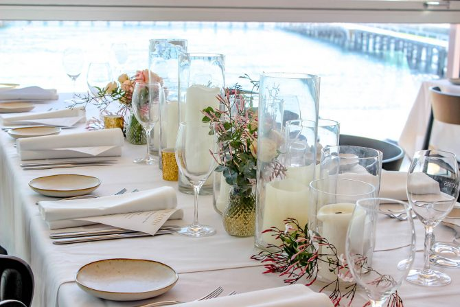 Close up of Candles In Vases Hire Melbourne
