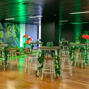 Enchanted forest theme for kids day furnture and backdrop hire melbourne
