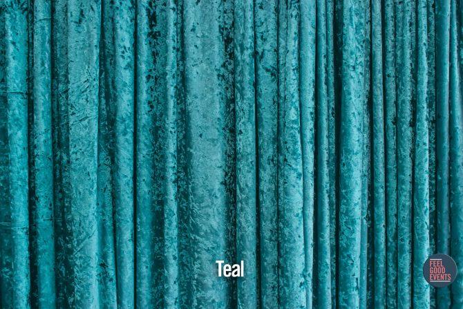 Teal Velvet Drape Hire Melbourne - Crushed Velvet