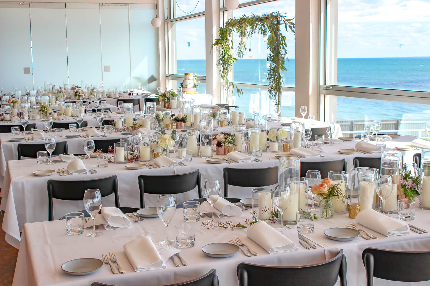 Wedding Table Setup Hire with Candles Melbourne
