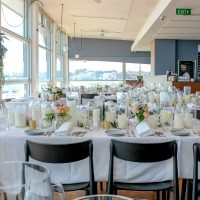 Wedding Table with Glass Vases with Candles Hire Melbourne