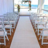 White Carpet Hire Wedding Setup The Baths Middle Brighton