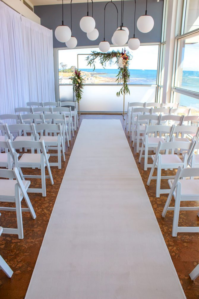 White Carpet Hire Wedding Setup The Baths Middle Brighton