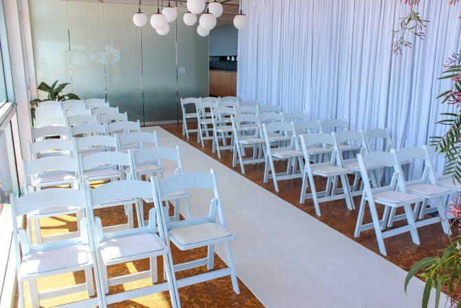 White Carpet & White Chair Hire Melbourne The Baths Middle Brighton 1