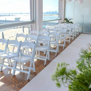 White Carpet & White Chair Hire Melbourne The Baths Middle Brighton 2