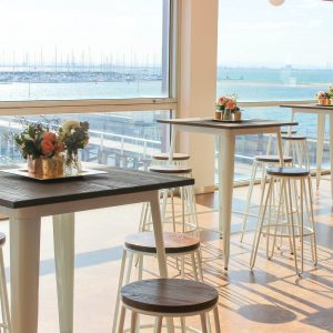 White Tolix Stools In a Row Hire Melbourne