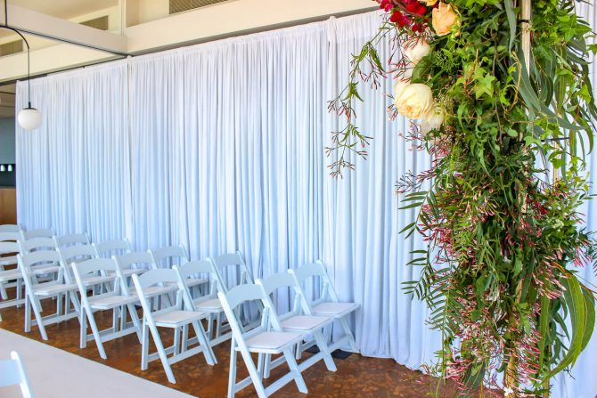 White Velvet Draping Hire The Baths Middle Brighton