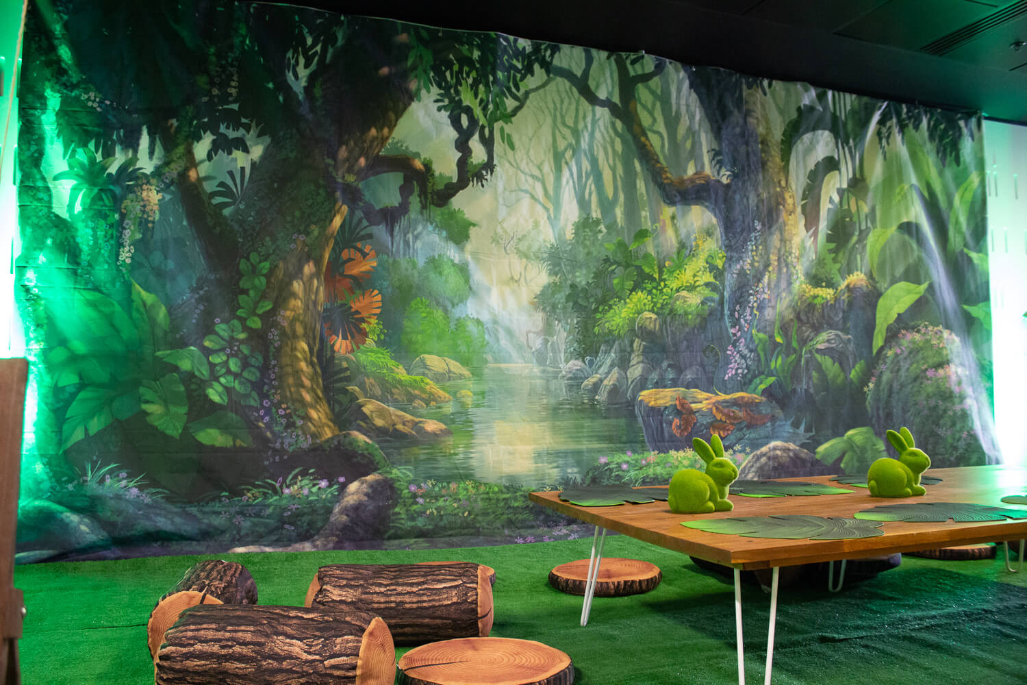 magical forest backdrop hire in melbourne