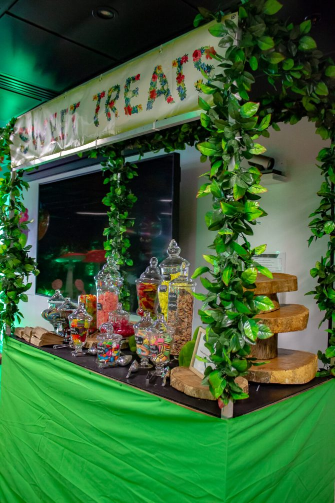 sweets station hire melbourne with vines