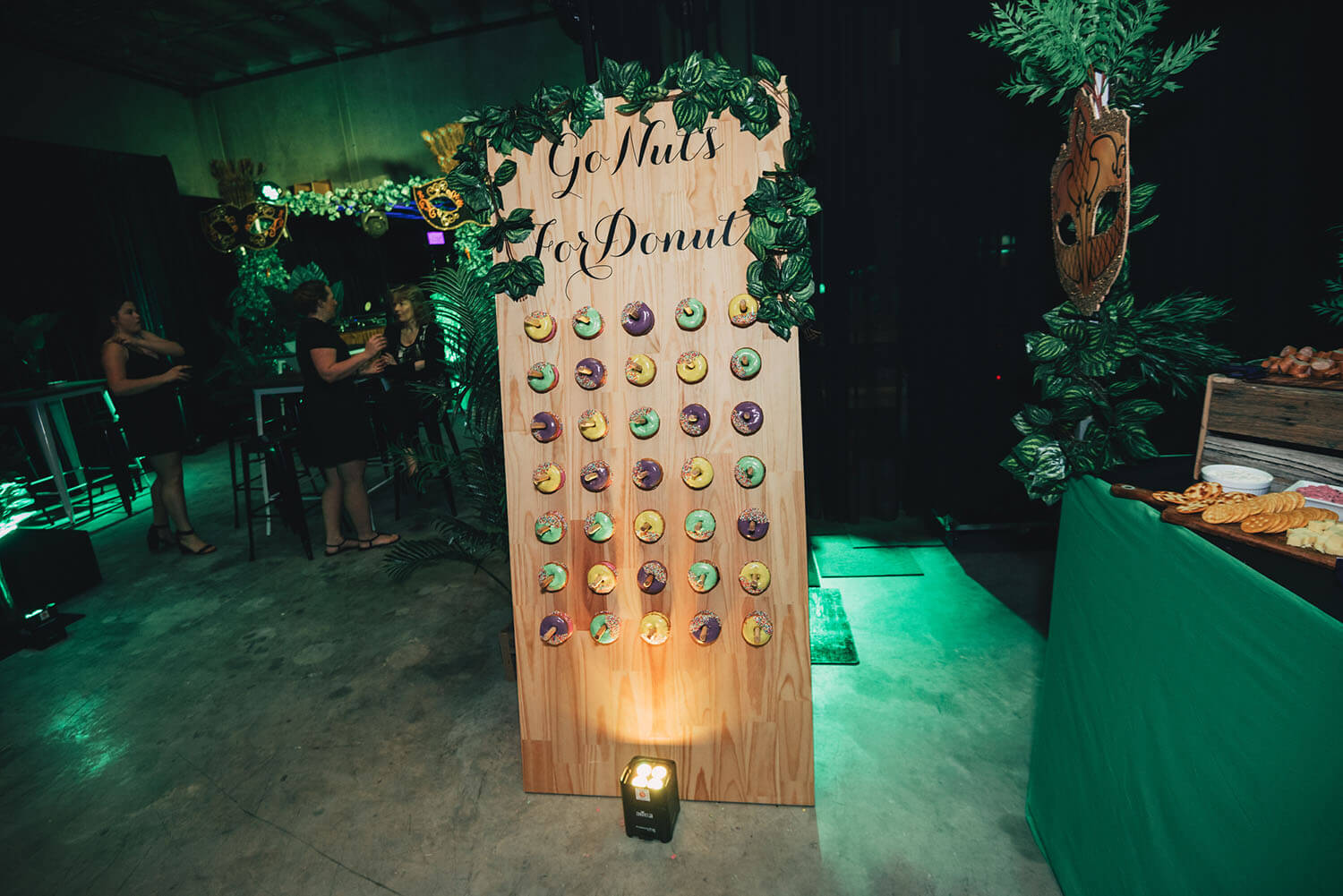 Donut Wall hire melbourne covered in vines