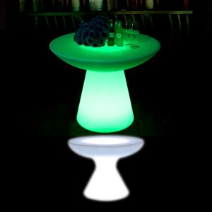 Illuminated Small Mushroom Bar Table glow furniture hire melbourne