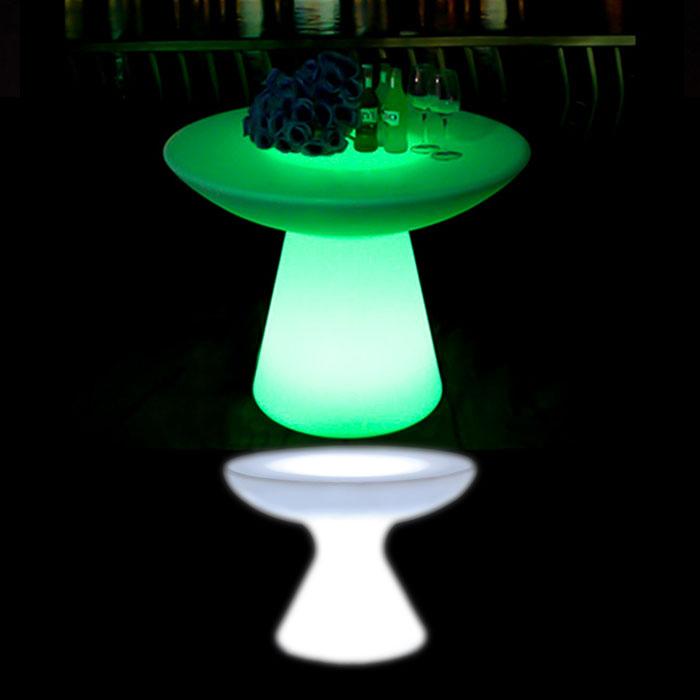 Illuminated Small Mushroom Bar Table glow furniture hire melbourne