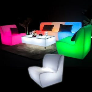 Illuminated Straight Sofa glow furniture seating hire melbourne