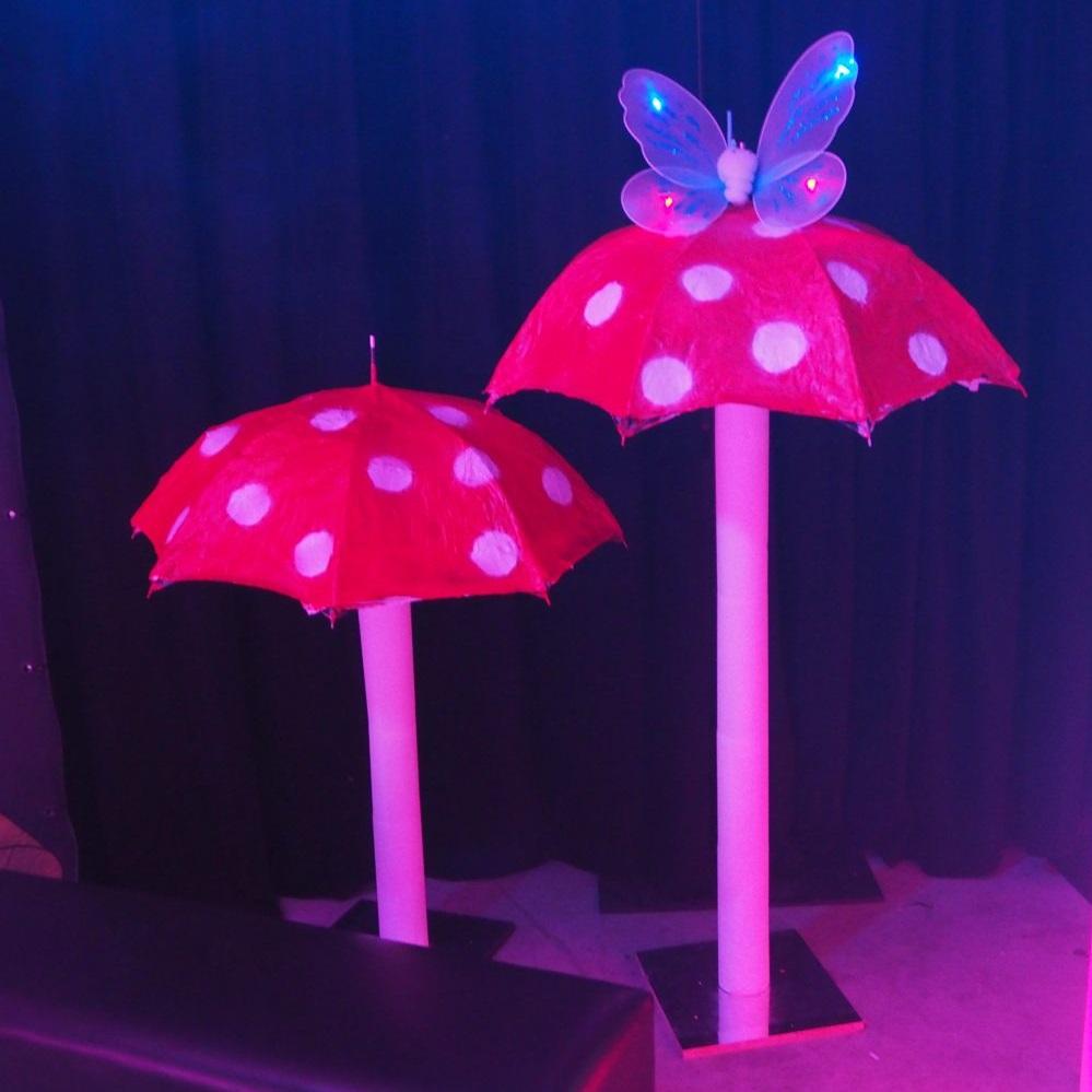 Mushrooms Umbrella Hire Melbourne