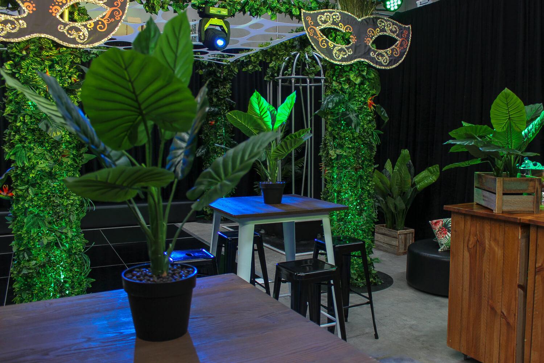 artificial pot plant hire melbourne in jungle setting
