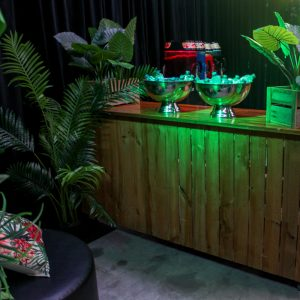 bar hire melbourne in jungle green theme