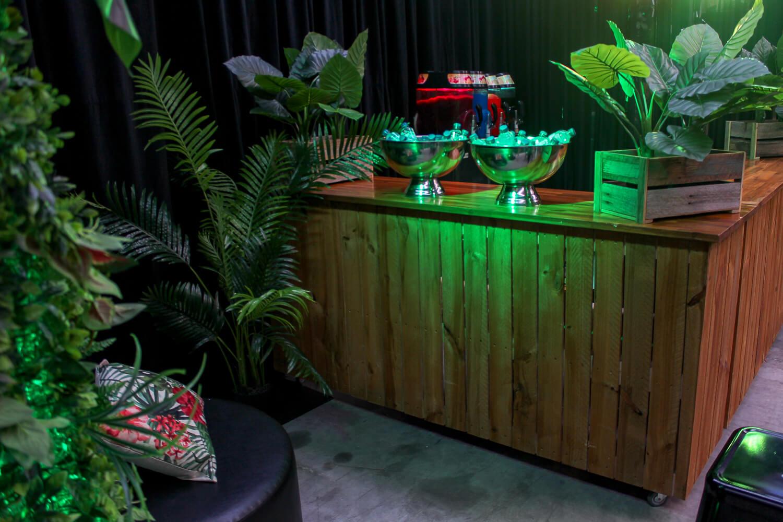 bar hire melbourne in jungle green theme