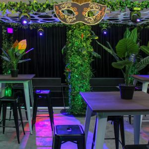 dance floor with jungle canopy hire melbourne