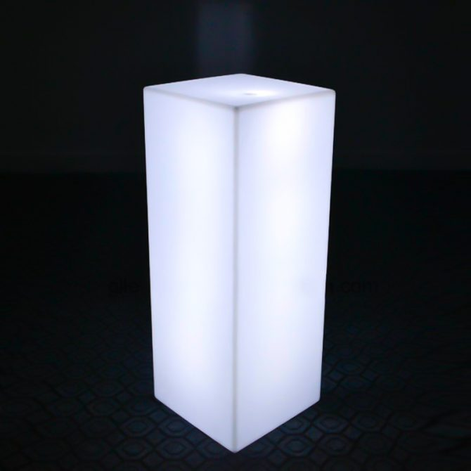 glowing illuminated plinth hire melbourne