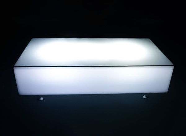 glowing illuminated rectangle coffee table hire melbourne