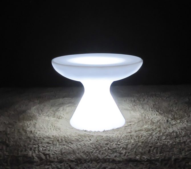illiminated small mushroom bar table glow furniture for hire melbourne