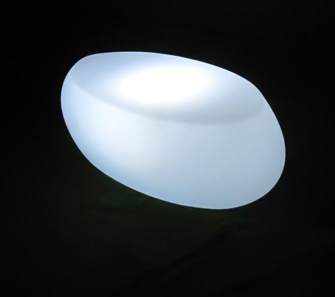 illuminated oval coffee table for hire melbourne