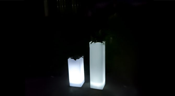illuminated plinth hire glowing furniture in melbourne