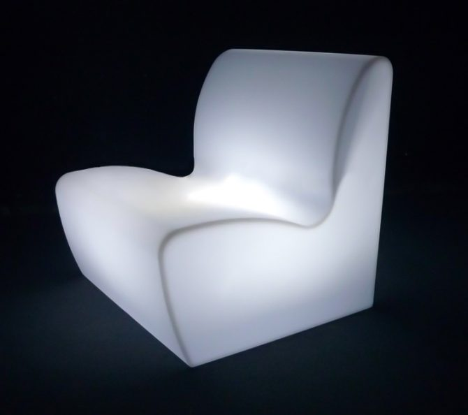 illuminated straight sofa glowing furniture for hire melbourne
