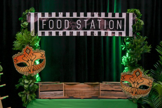 jungle masquerade food station hire melbourne