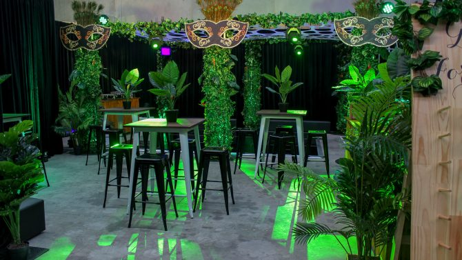 masquerade jungle theme hire melbourne