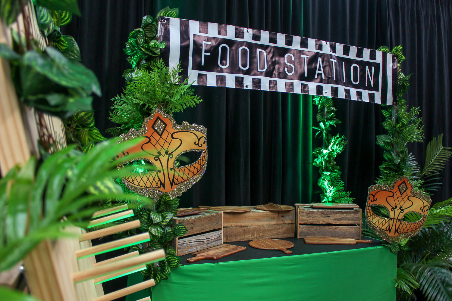 masquerade style food station hire melbourne