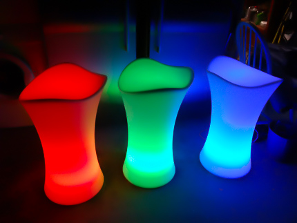 red green blue glow illuminated stool hire melbourne