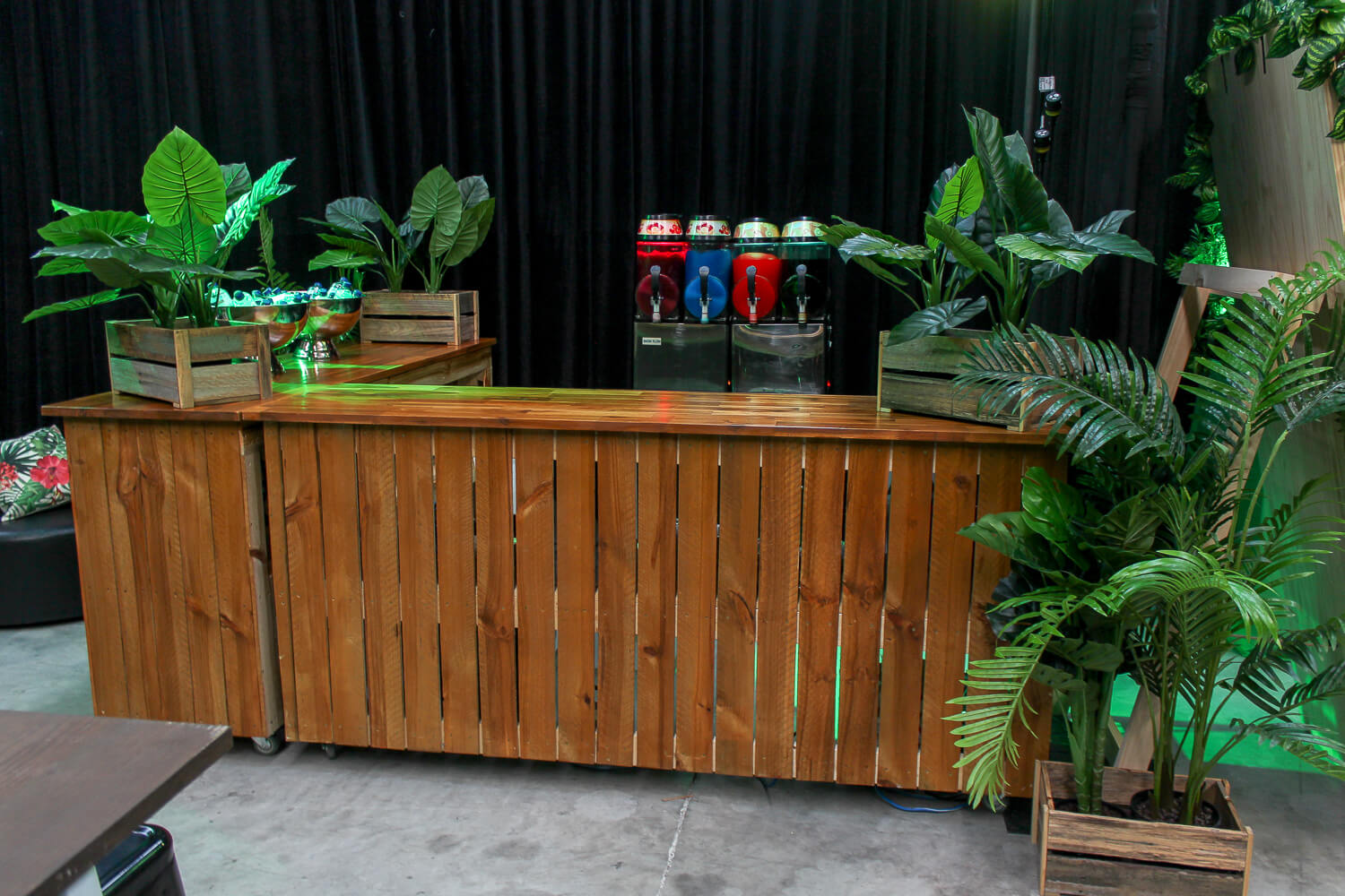 Wooden Bar Hire Feel Good Events Melbourne