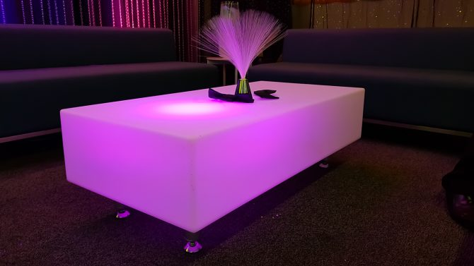 large glowing coffee table hire melbourne feel good events
