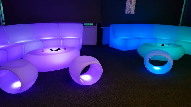 seating and table illuminated furniture hire melbourne