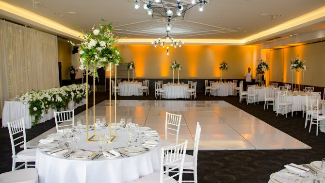 white_dance_floor_gold_uplighting_hire_melbourne
