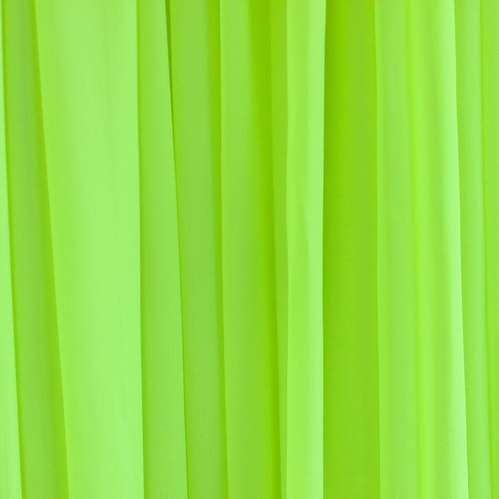 Chiffon Drape Hire Melbourne - Fluro Yellow