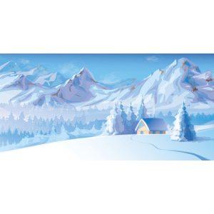 Large Snowy Mountains Backdrop Hire Melbourne