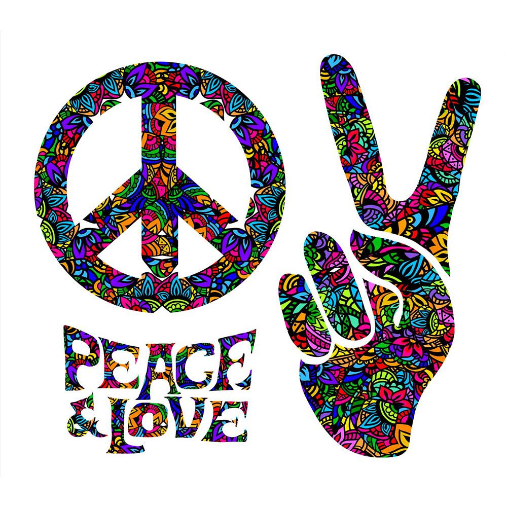 Standard 60's Peace & Love Backdrop Hire Melbourne