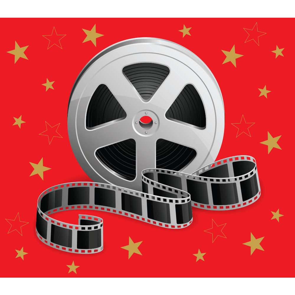 Standard Movie Reel With Stars Backdrop Hire Melbourne
