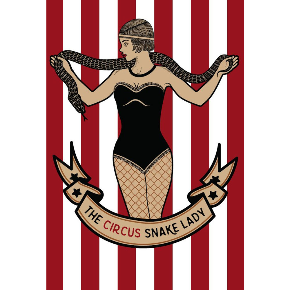 Standard Circus (dark) Snake Lady Backdrop Hire Melbourne