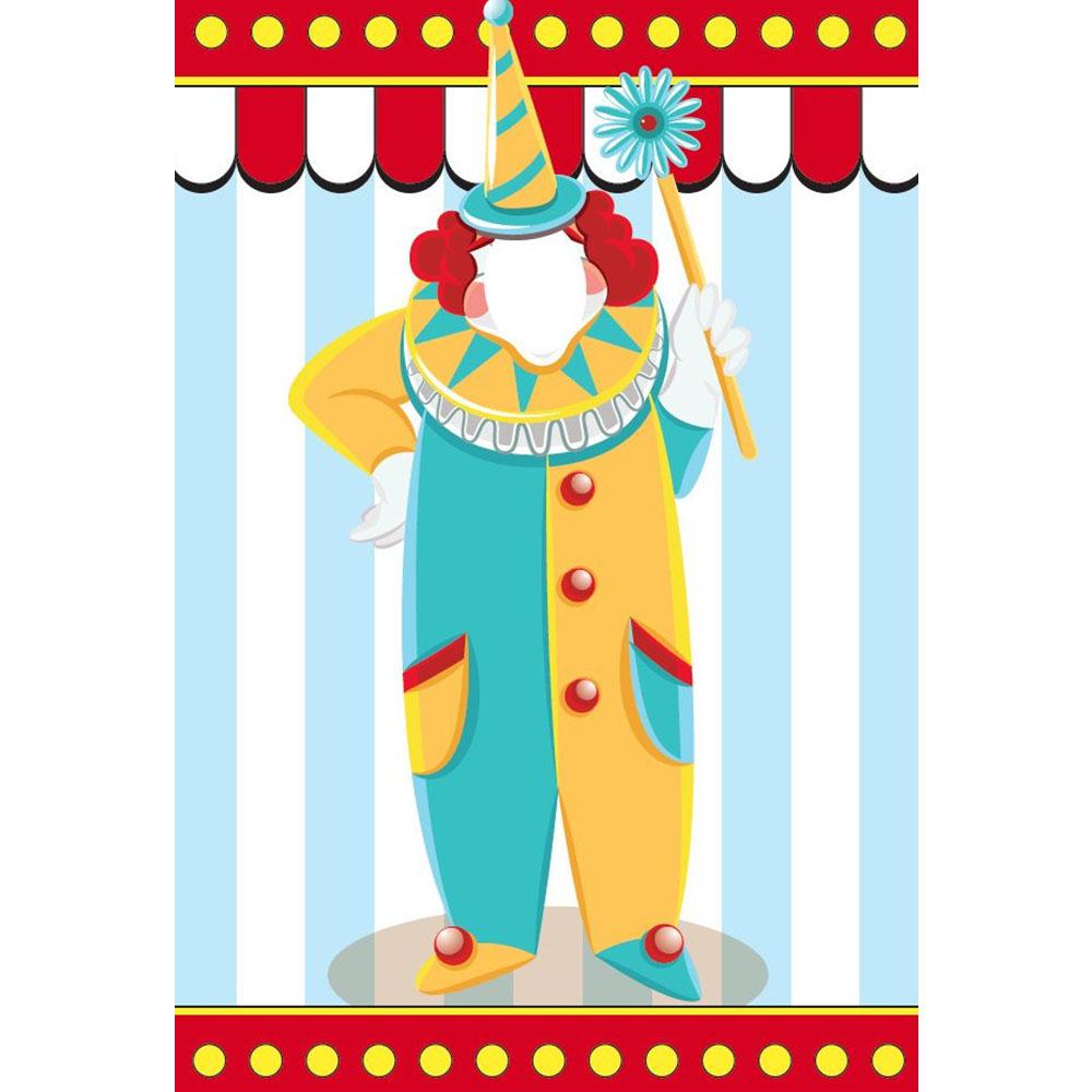 Standard Circus (light) Clown Backdrop Hire Melbourne