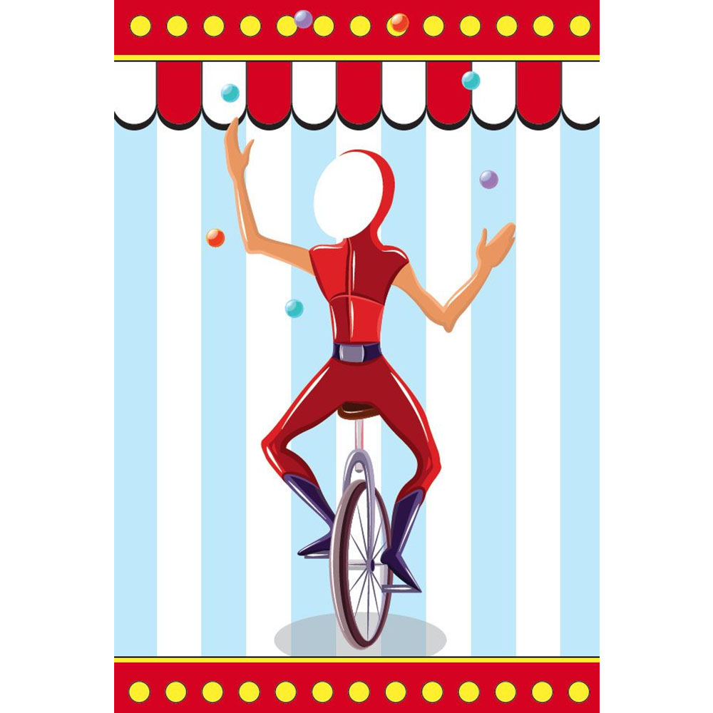 Standard Circus (light) Juggling Unicyclist Backdrop Hire Melbourne
