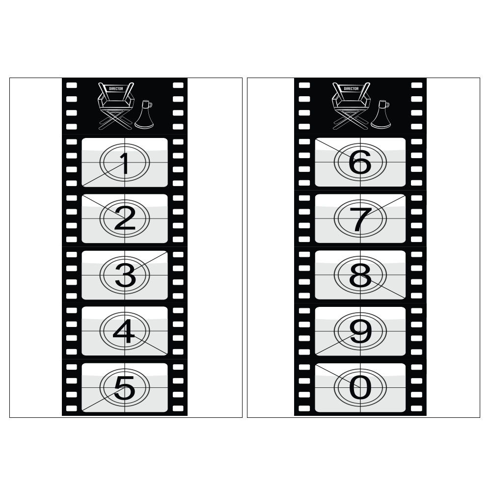 Standard Movie Reel (count down) Backdrop Hire Melbourne