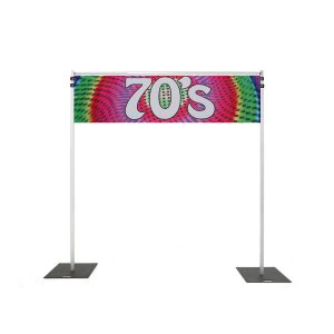 Backdrop Rigging with 70s banner hire melbourne